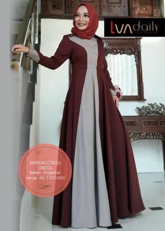 LVA Daily Maroon Coksu Dress